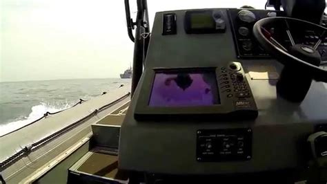 Driving Boat In Waves by Driving Fast In The Waves Rhib Drive By Uss Freedom Lcs
