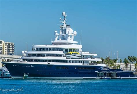 Luna Boat by 115m Explorer Yacht Luna Spotted In Miami Yacht Harbour