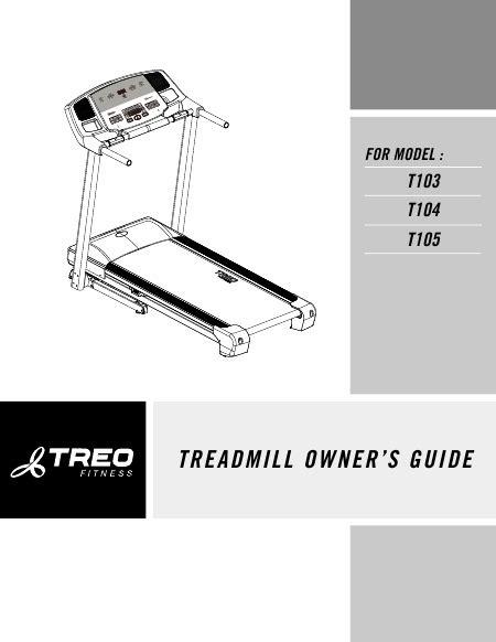 treo t103 tapis de course t 233 l 233 charger pdf mode d emploi anglais
