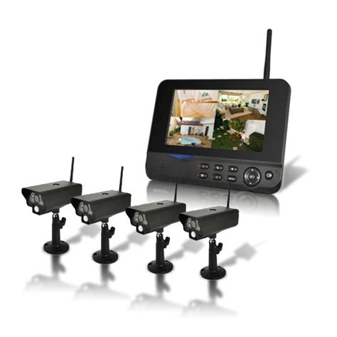 secutec fr kit surveillance sans fil 4 233 ras infrarouge et r 233 cepteur 233 cran lcd 7 quot