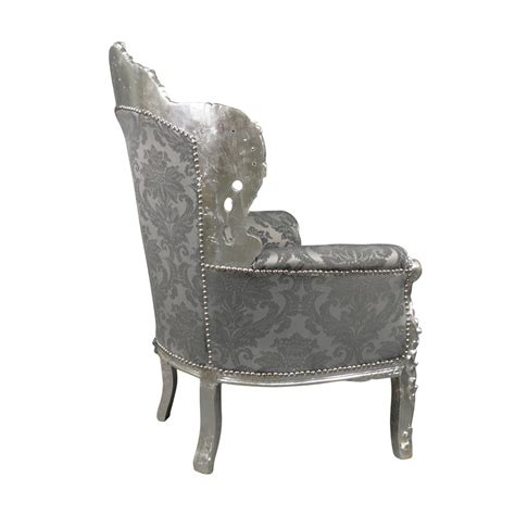 fauteuil baroque argent royal rococo meuble et canap 233 baroque