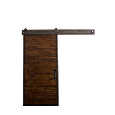 barn door home depot rustica hardware 36 in x 84 in mountain modern stain