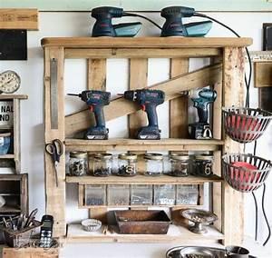 Regal Für Garage : erstellen sie ein regal f r die werkstatt oder garage von paletten diy und selbermachen ~ Markanthonyermac.com Haus und Dekorationen