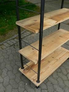 Regal Industrial Design : regal industrie design eisen holz b cherregal industrial k chenregal ebay ~ Markanthonyermac.com Haus und Dekorationen