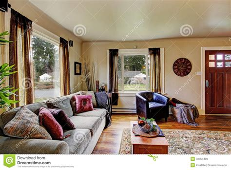 int 233 rieur de salon dans la maison am 233 ricaine photo stock image 42954439