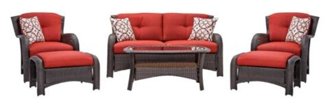 hanover strathmere 6 outdoor seating lounge set