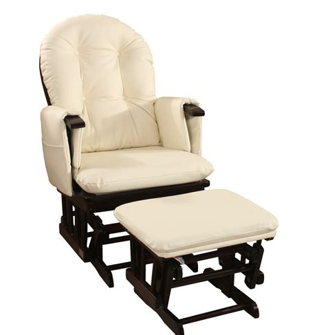 pu leather new baby glider rocking breast feeding chair w ottoman ebay