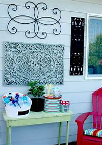 outside wall decor Outdoor Wall Art {DIY} | Today's Creative Life