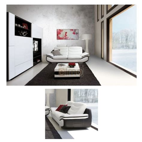 canap 233 design moderne cuir italien larges accoudoirs 1 t 234 ti 232 re