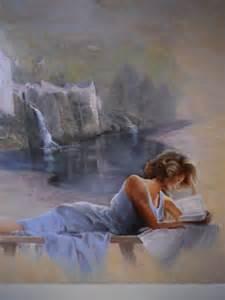 tableau peinture peinture huile toile personnage ballade dans les gorges du tarn