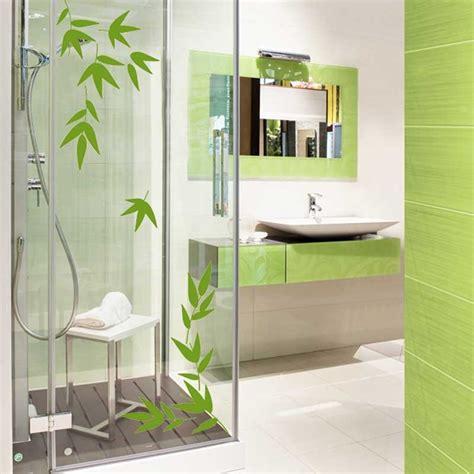 sticker feuille de bambou pour salle de bain en vente sticker s studio