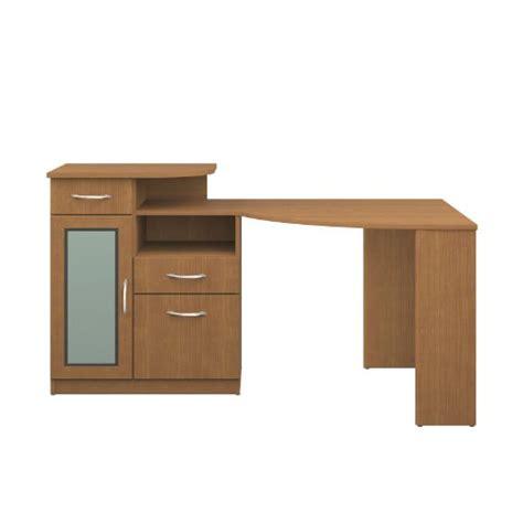 bush furniture vantage corner desk light wood