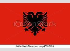 Flat albanian flag