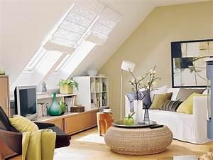 Kleine Küche Mit Schräge : wohnideen wohnzimmer dachgeschoss ~ Markanthonyermac.com Haus und Dekorationen