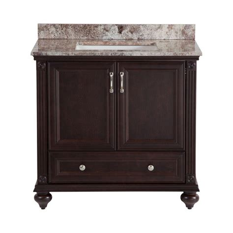 home decorators collection annakin 36 in w vanity in chocolate with effects vanity top in