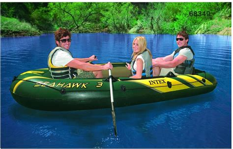 Intex Seahawk 3 Inflatable Boat by Intex Seahawk 3 Person Inflatable Boat 295 137 43cm