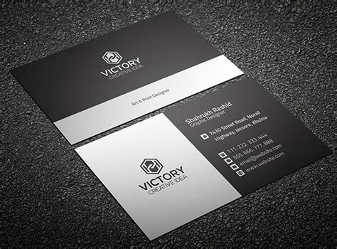 Free Graiht & Corporate Business Card Template Psd