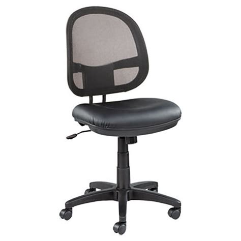 alera alein4815 interval black mesh leather office chair with black swivel base