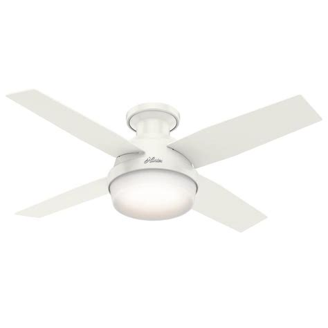 shop dempsey 44 in fresh white flush mount indoor