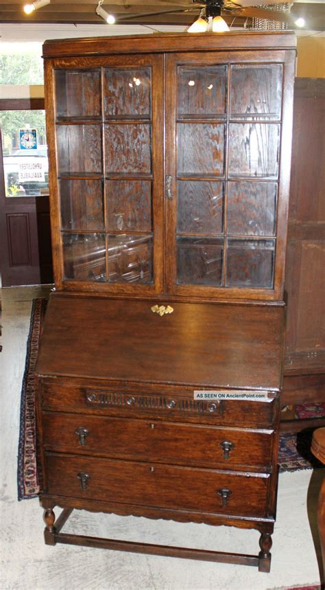 antique desk made from oak 1900 1950