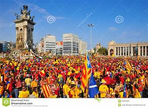 Celebration Of The National Day Of Catalonia In Barcelona ...
