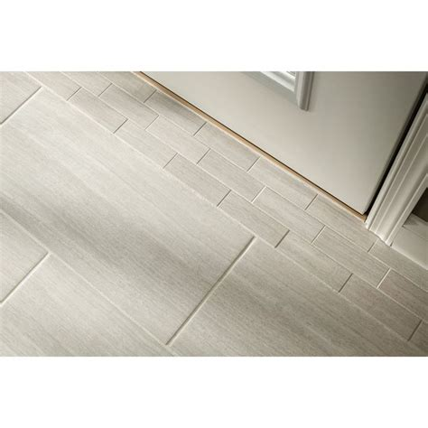 shop style selections 12 x 24 leonia silver glazed porcelain floor tile at lowe s canada find