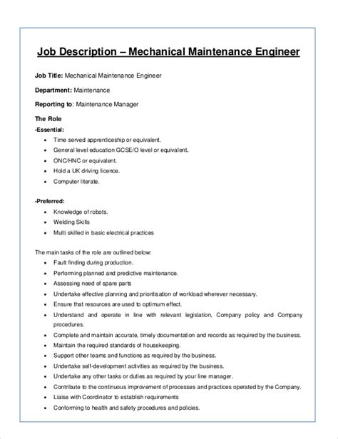 8+ Mechanical Engineer Job Description Samples  Sample. Microsoft Office Brochure Templates Free Template. Sample Of Cover Letters For A Resume Template. Sample Of Letter Of Employment Letter Sample. Sample Cv For Teachers Job Template. Operating Agreement Template. Appreciation Certificates For Employees Sptv. It Professional Resume. The Custom Form Cannot Be Opened Outlook 2007 Template