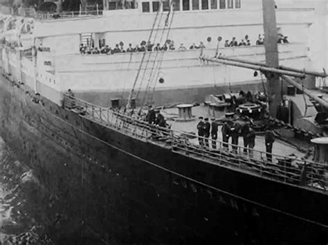 rms lusitania leaves new york city on its fateful last