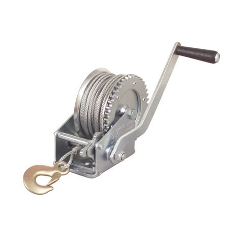 Boat Lift Hand Crank by 1 Ton Hand Crank Steel Cable Winch Boat Atv Trailer W Hook