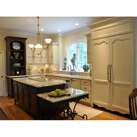 Country French Kitchen Island & Cabinets  J Tribble