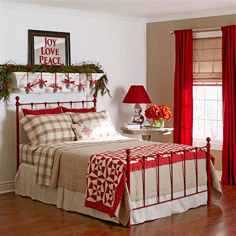 10 Christmas Bedroom Decorating Ideas, Inspirations