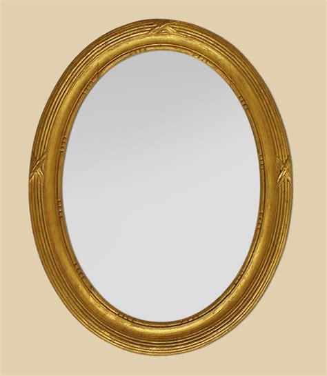 miroir ancien ovale bois dor 233
