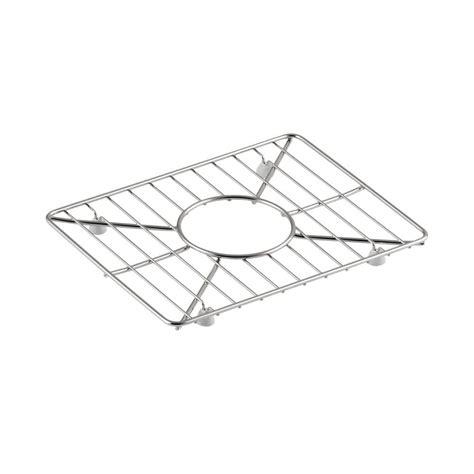 kohler vault 11 5 in x 8 9375 in sink basin rack in stainless steel k 2993 st the home depot