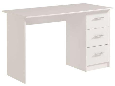 bureau 3 tiroirs infinity coloris blanc vente de bureau conforama