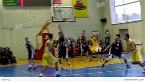 Men's Basketball Game In The Gym Stock video footage | 8140460
