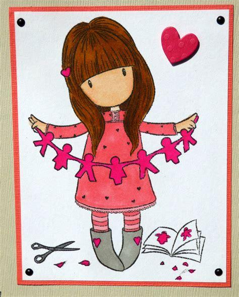 une fillette coloris 233 e 224 la une ribambelle une carte d anniversaire pour fille