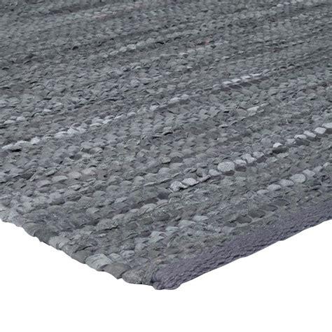 cuir tapis peau 55x85 gris