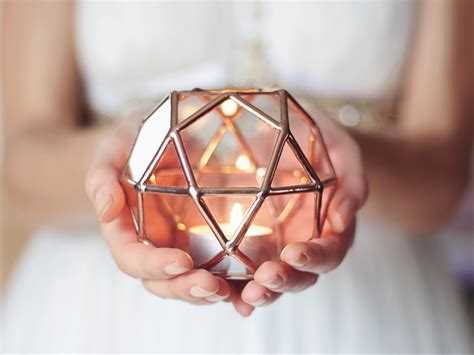 Geometric Glass Candle Holder ? Adorable Home