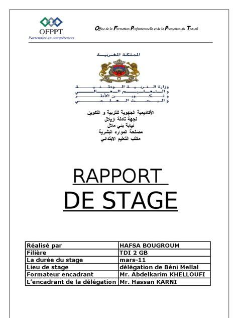 exemple rapport de stage formateur document