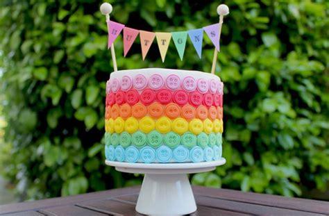 rainbow button cake decorations goodtoknow