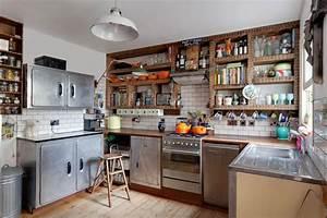 Küche Retro Style. vintage k chen aus vollholz edle. retro k che ...