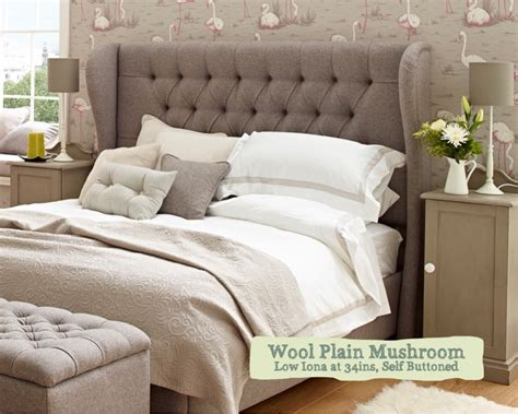 5 ft king size buttoned upholstered headboard winged iona winged padded headboard uk