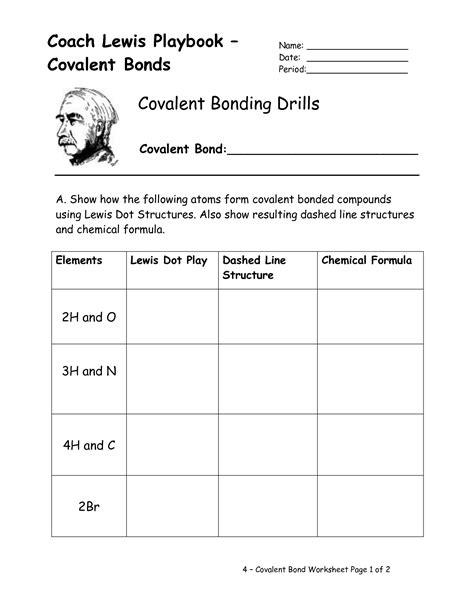 12 Best Images Of Lewis Structures Covalent Bonding Worksheet  Lewis Dot Covalent Bond