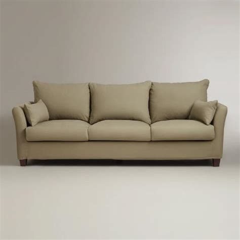 luxe 3 seat sofa slipcover world market