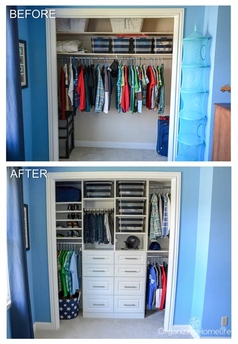 Tween Boy's Room Organized Closet Reveal  Organizing Homelife