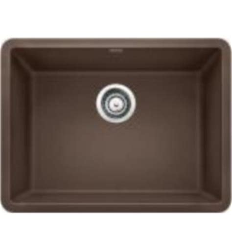 blanco 522418 precis 23 1 2 quot single bowl undermount silgranit kitchen sink in cafe brown