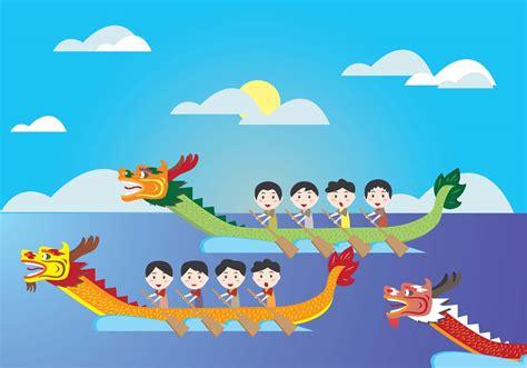 Dragon Boat Festival Vector by Dragon Boat Festival Kids Vector Download Free Vector