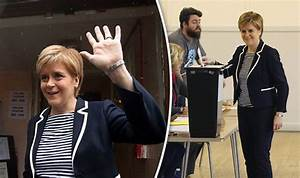 Election 2017: Nicola Sturgeon votes as polls open amid ...
