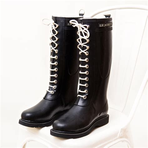 Rubber Boot With Laces by Tall Classic Rubber Boots With Laces By Ilse Jacobsen