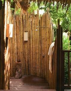 Bambus Im Garten : sichtschutz f r gartendusche 35 tolle beispiele ~ Markanthonyermac.com Haus und Dekorationen